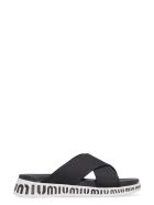 Miu Miu Miu Run Slides - black