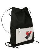 Prada Backpack - Nero+bianco