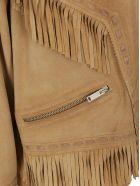 Golden Goose Leather Jacket - Bone brown