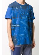 Mr & Mrs Italy Yts0042 Printed Oversize T-shirt - ROYAL BLUE