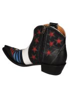 Jessie Western Patch Western Boots - Red/blue