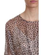 L'Autre Chose Leopard Chiffon Silk Dress - Animalier