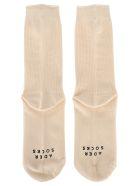 Ader Error Logo Socks - WHITE
