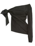 N.21 Single Shoulder Shirt Taffetas - Nero