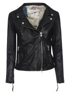Bully Zipped Leather Jacket - Black