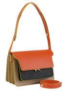 Marni Trunk Shoulder Bag - Orange/black/beige