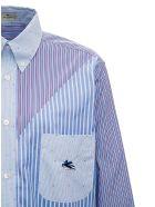Etro Cotton Patchwork Shirt - Light blue
