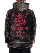 United Standard Glitch Phoenix Hoodie - Black - Nero