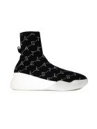 Stella McCartney Loop Monogram Sneakers - Black White
