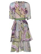 Dsquared2 Belted Layered Dress - Multicolor