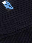 Prada Wool Ribbed Scarf - BLUE