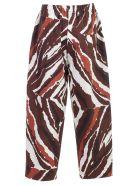 SEMICOUTURE Printed Trousers - Sttw Stampa Tigre Eba