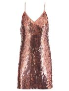 Alice + Olivia Mini Dress With Sequins - IRIDESCENT PINK