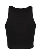 3x1 3x1 And Mimi Cuttrell - Cotton Blend Crop Top - black