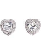 Alessandra Rich Faba Embellished Maxi-earrings - silver