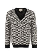 Gucci Sweaters V-NECK WOOL SWEATER