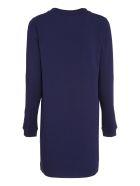 Love Moschino Logo Print Cotton Sweatdress - blue