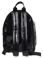 "Chiara Ferragni Black Vinyl Backpack With ""flirting"" Embroidery - Black"