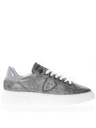 Philippe Model Paris Grey Suede Leather Sneakers - Gray
