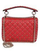 Valentino Studded Shoulder Bag - Rouge Pure
