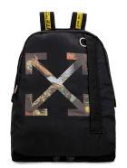 Off-White Logo Detail Nylon Backpack - black