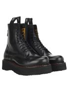 R13 Stack 40 Military Boots - BLACK