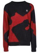 Marcelo Burlon Camou Sweater - Red/Black