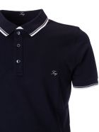 Fay Embroidered Logo Polo Shirt - Black