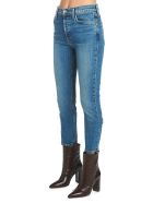 RE/DONE 'high Rise Ankle Crop' Jeans - Blue