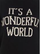 Alberta Ferretti 'it's A Wonderful World' Sweater - Black