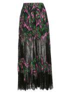 McQ Alexander McQueen Sheer Skirt - Pink/green