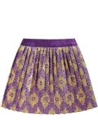 Gucci Gold Skirt For Baby Girl With Double Gg - Gold