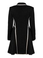 Boutique Moschino Jewelled Buttons Virgin Wool Coat - black