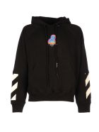 Off-White Thermo Men Double Sleeves Hood - Black Multi