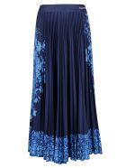 Valentino Blue Bluegrace Bouquet Skirt - Blue