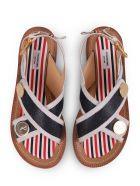 Thom Browne Navy Criss Cross Sandals - Navy