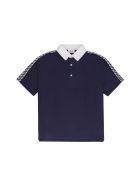 Fendi Cotton Piqué Polo Shirt - blue