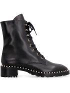Stuart Weitzman Allie Leather Combat Boots - black
