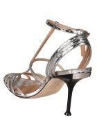 Sergio Rossi Trim Sandals - Silver