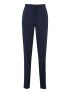 Alberta Ferretti High-waist Crêpe Trousers - blue