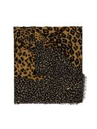 Saint Laurent Animalier Wool Shawl - Brown