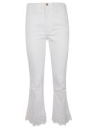 Frame Flared Cropped Jeans - Blanc