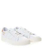 Adidas Originals Evryn White Leather With Orange Nubuck Insert - White