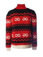 Gucci Zip Up Knitted Sweater - Cherry Multi