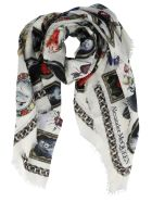 Alexander McQueen Cameo And Curiosities Print Shawl - Ivory