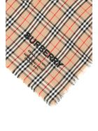 Burberry Cashmere Scarf With Embroidered Logo - CAMEL (Beige)