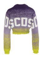 GCDS Lilac Woman Gcds Crop Sweater With Shaded Effect - Violet