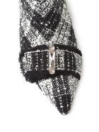 Anna Baiguera Annaveronica Crystal-embellished Bouclè Booties - Bianco