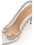 Aquazzura Temptation Crystal Sandals 105 - WHITE (White)