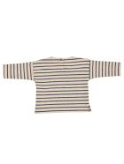Babe & Tess Striped Top - Ecru/Blue